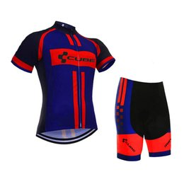 Wholesale Team Cube Cycling Jerseys - CUBE team sport suit Brand Cycling Short Sleeves jersey (bib) shorts sets Clothing set perspiration C0719