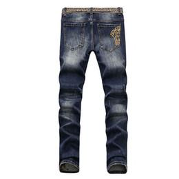 2019 jeans coreano elástico 18 verão nova versão coreana do corpo magro jeans jeans shave elástico jovem bordada calças finas jeans coreano elástico barato
