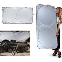 Wholesale Foldable Sunshade - Foldable Car Sun Shade 150*70cm Truck Van Car Windshield Visor Block Cover Car Window Sunshade Covers OOA4601