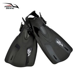 equipment for training Promo Codes - KEEP DIVING Adjustable Scuba Diving Fins For Adult Women Or Men Swimming Training Equipment Monofin Shoes Snorkeling Flippers