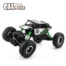 Wholesale electric off road - 2018 New RC Car 2.4G 4CH 4WD 4x4 Driving Car Double Motors Drive Bigfoot Cars Remote Control Cars SUV Off-Road Vehicle Truck