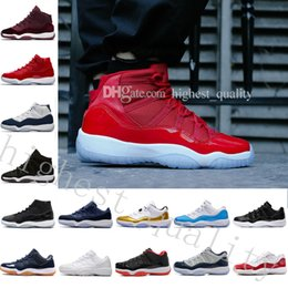 Wholesale Ice Tassel - AAA Quality Win Like 82 Wholesale ice blue Space Jam 11 UNC 11s Midnight Navy Blue Gym Red With Box Basketball shoes Free Shipping Eur 36-47