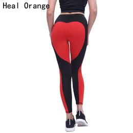 Wholesale Heal Up - HEAL ORANGE Sport Leggings Love Heart Patchwork Fitness Push Up Yoga Pants Leggins Sports Clothing Running Tights Gym Sportswear