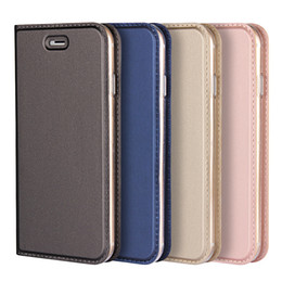 Wholesale Book Wallet Iphone Case - for iphone 7 plus case iphone 8 plus leather Case DNGN gentle 3in1 Automatic Magnetism Card Slot protective book case flip cover