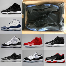 Wholesale Sherri Hills Dresses - 11 11s blackout basketball Shoes men women Prom Night gym red Midnight Navy low bred concord Barons space jam sneakers us 5.5-13