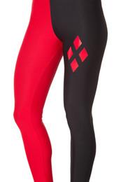 Giacche nere di calze nere online-Personalizzare le donne Sport Fitness attiva Leggings sexy Rosso nero Patchwork Pantaloni Collant Yoga Elastico Elastico alto poliestere Leggings Lady