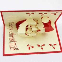 Wholesale Three Dimensional Greeting Cards - South Korea Three-dimensional Greeting Cards Handmade Custom Retro Castle Christmas Gift Postcard