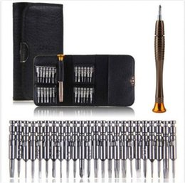 Wholesale Tools Repairs - 25 in 1 Torx Screwdriver Mobile Phone Repair Tool Set For iPhone Cellphone Tablet PC Mobile Phone Electronics Hand Tools Kit Multitool ..