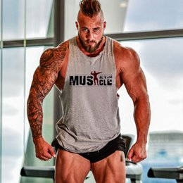 Wholesale Sexy Equipment - Wholesale- 2017 Hot Gyms Singlets Mens Tank Tops Shirt,Bodybuilding Equipment Fitness Mens Stringer Tank Top Muscle Clothes