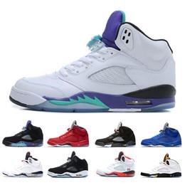 timeless design 5843b c32da Nike Air Jordan Retro 5 5s AJ5 Neue 5 OG Schwarz Metallic Mens Basketball  Schuhe Turnschuh Großhandel aaa Qualität International Flug 5s Turnschuhe  ...