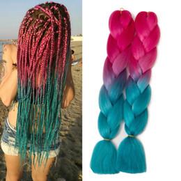 выражения кос Скидка Омбре плетение волос высокая температура волокна выражение плетение волос 100 г/кусок синтетические плетение наращивание волос