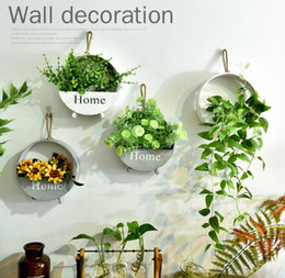 Wholesale hanger products - Storage Holders Organizer Creative Flower basket House Wall Decor Wooden Home Products Sundries Jewelry Box Wall Hanger Decoration GGA449