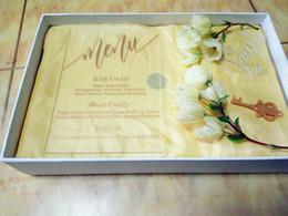 2019 1 º filho ao atacado Cartão do menu, acrílico claro personalizado de alta qualidade gravado cartões do menu do casamento com envelope livre, caixa e flor não incluídos (165mmx114mmx2mm)