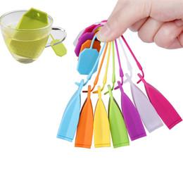 Bolsos de mano online-Silicona de la categoría alimenticia del bolso del infuser del té del bolso de la infusión forma del filtro del té de la hoja floja filtro herbario de la bolsita de té creativa