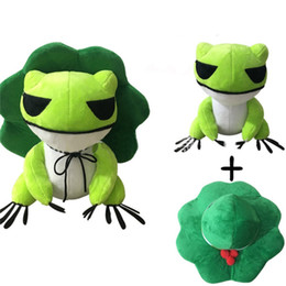Wholesale Ce Hat - Kawaii Plush Doll Toys Traveling Frog Two Dimensions Cure Throw Pillow with Removable Hat Soft Pendant Stuff Toys for Adults Kids