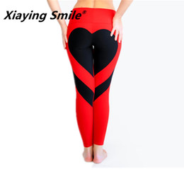 Collane modellate all'ingrosso online-Xiaying Sorriso Fitness Donna Running Pantalone Pantaloni all'ingrosso Elastic Sports Pants Fitness Sport Yoga Modello di amore