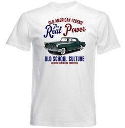 CARRO VINTAGE AMERICAN LINCOLN MARCA CONTINENTAL II-NOVO ALGODÃO T-SHIRT Impresso Camiseta Homens T-Shirt de Algodão Novo Estilo de