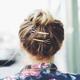 2019 lindas pinzas para el cabello HOT Nice Women Lady Girls Scissors Shape Hair Clip Barrettes Horquilla Hair Decoraciones Accesorios rebajas lindas pinzas para el cabello