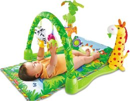 Wholesale Baby Play Gym Toys - Musical Soft Play mat Game Blanket Pad Play Fitness Frame Educational Baby Toys For Kid Climb Mat Crawling Baby Gym Blanket