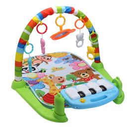 Teclado musical de juguete online-3 en 1 Educativo Rack Juguetes Bebé Música Play Mat Keyboard Infantil Fitness Alfombra Regalo Para Niños