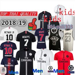 Top thai quality PSG soccer jersey 2019 Men Women kids maillot de foot  third MBAPPE CAVANI jerseys 18 19 Paris saint germain football shirt cheap  women s ... 264eac9b31