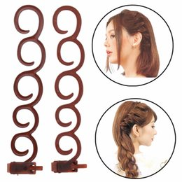 Дешевые косички онлайн-1Pc 13.5x2.5cm Hairstyling Tools Weave Braid Hair Braider Magic Twist Bum Maker Roller Cheap New