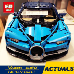 lepin blocks Australia - 2018 New Lepin 20086 Technic Series Supercar Building Blocks Bricks Educational Toys Compatible 42083 Boy Gifts Model in presell