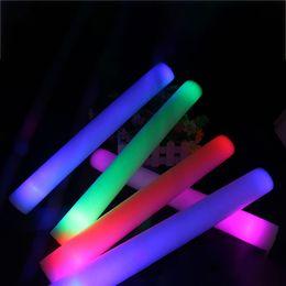 Bastoni di puntelli online-LED Light Sticks Schiuma Puntelli Concert Party Lampeggiante Bastoni luminosi Halloween Christmas Festival Giocattoli per bambini Regali WX9-965