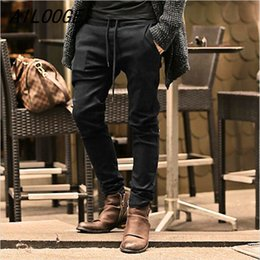 Wholesale Fit Coffee - Ailooge Mens Jeans Stretch Coffee Denim Men 'S Skinny Jeans Slim Fit Jeans 2017 New Arrival High Quality Solid Casual Pants