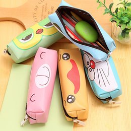 Wholesale High Quality Stationery - Korean Cute Cartoon Pen Bag Stationery Adorable Quality PU High-capacity Pencil Case Stationery Wholesale