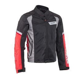 2019 chaquetas de malla de motocicleta Nueva chaqueta de malla de carreras respirable / chaquetas de motocicleta ropa a prueba de viento de la motocicleta que monta chaquetas off-road tienen protección chaquetas de malla de motocicleta baratos