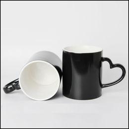 Ahuecando fotos online-Eco-Friendly Diy Photo Magic Color Changing Coffee Mug Personalice su foto en la taza de té Color negro El mejor regalo para amigos