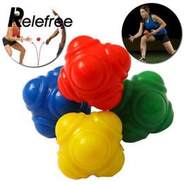 2019 pelotas de goma para gimnasia Nivel medio Equipamiento deportivo Gimnasio Fitness Bola de reacción hexagonal Pelota de goma Atleta Entrenamiento Tenis Béisbol Bolas de velocidad rápida pelotas de goma para gimnasia baratos