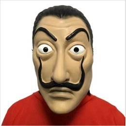 """Wholesale Movie Films - 2018 New Hot """" La Casa De Papel"""" Face Mask """"Salvador Dali"""" Cosplay Movie Mask Realistic Party Mask Halloween Party Cosplay"""