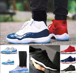 Wholesale Gamma Band - 11 11s Prom Night Basketball Shoes Men Women blackout Gym Red Midnight Navy space jam concord PRM Heiress bred gamma blue Sport Sneaker