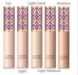 Wholesale Foundation Sand - Hot makeup Shape Tape contour Concealer 5colors Fair Light Medium Light sand 10ml Liquid Foundation Top qualtiy DHL shipping+Gift