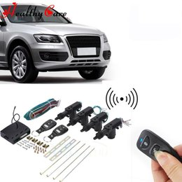 Wholesale two way auto car alarm - Car Auto Alarm Systems Remote Keyless Entry Central Lock Kit Locking Vehicle Entry System With Remote Controllers BBA210