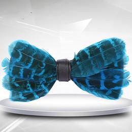 Мужские галстуки-бабочки, натуральные синие перья, волосы птицы, банкет, свадебный жених, жених, Красный свадебный галстук supplier natural red feathers от Поставщики натуральные красные перья