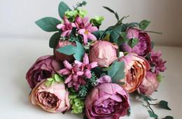 2019 paeonia suffruticosa [12 Capolini] Bouquet di peonie artificiali Albero Paeonia Suffruticosa Silk Flowe sconti paeonia suffruticosa