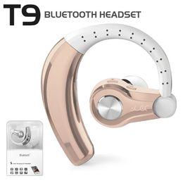 auricular bluetooth t9 Rebajas T9 Auriculares Bluetooth Inalámbricos Ear-hook Earbuds V4.1 Manos libres Bluetooth Auriculares estéreo con micrófono Auriculares para auto para smartphones