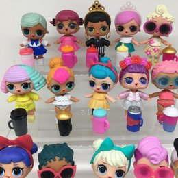 Wholesale Clothes For Girl China - lot Cute Boneca Lol Doll With Joint Doll Accessories Clothes Feeding Bottle Action Figures For Baby Girl Gift no ball 8pcs