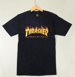 Wholesale letters magazine - 2018 New T-shirt Men's Cotton T-shirt Skate Magazine Hip Hop Top T-shirt Free Shipping