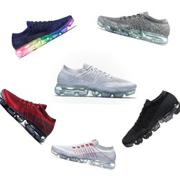 Wholesale mens shoes fashion black - 2018 Top Quatily Vapormax Light Running Shoes For Mens Sneakers Women Athletic Sport Shoe Hiking Jogging Walking Outdoor Fashion Sneakers