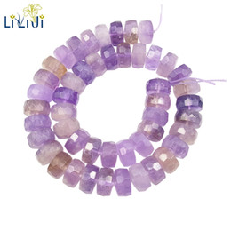 Wholesale Loose Faceted Gemstones - Lii Ji Gemstone Natural Ametrine Flat Round Faceted Loose Beads about 8x14mm for DIY Jewelry Making about 39cm