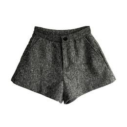 Wholesale Korean Winter Wear Women - Hot Shorts Women Winter Korean Shorts Loose Wool Thick Waist Wide Leg All-match Wear High Waist Free Shipping 2017
