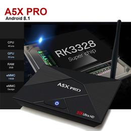 Wholesale quad movies - 2018 best andrid 8.1 tv box quad core A5X Pro 2GB 16GB 4K 3D Movies Media Player