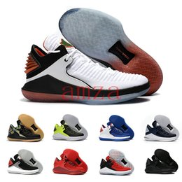 Wholesale Cat Stars - 2018 Retro 32 Low Gatorade Bred Basketball Shoes for Men Flight Speed XXXII Win Like 82 96 Black Cat Blue Red Sports Sneakers