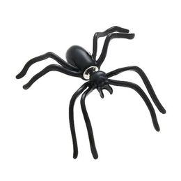 Wholesale girl spiders - halloween Black Spider Earrings for Women girls kids Punk Hyperbole Animal Mini Stud Earrings Fashion Jewelry B11