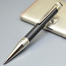 Price writing pens online-Promociones a bajo precio: bolígrafo de fibra de carbono negro de cristal plano de alta calidad y accesorios recubiertos de PVD con marcas Monte escriben bolígrafos