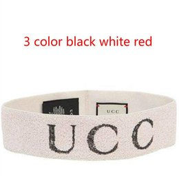 Wholesale Hair Head Hoop - G Letter logo Headband white Hair band towel hair with new hair accessories letter wide hoop wash head cover black White Red